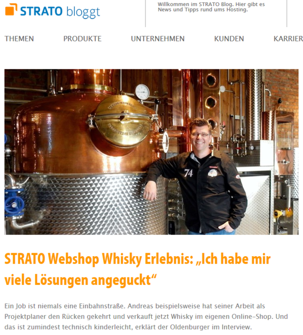 Strato Webhoster Blog - Whisky Erlebnis Interview
