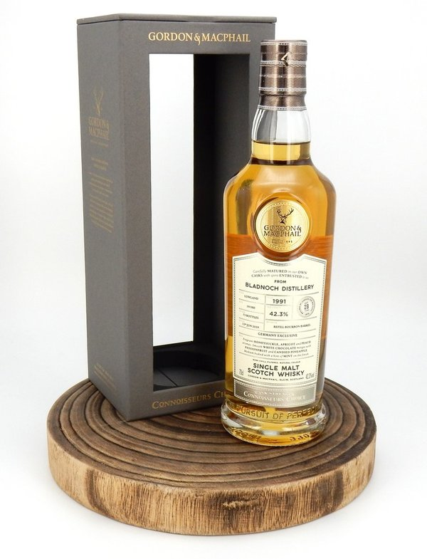 Bladnoch 1991/2019 28 Jahre Connoisseurs Choice CS 42,3% (Gordon & MacPhail)