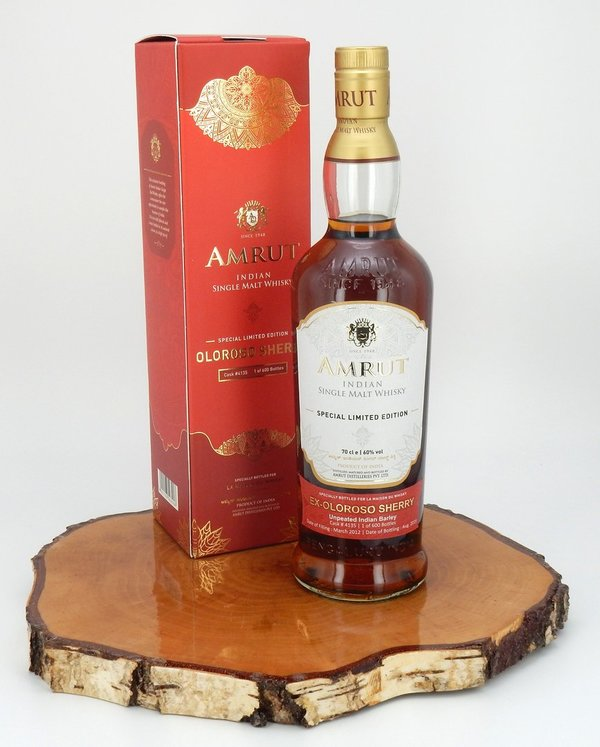 Amrut 2012/2019 Single Cask 7 Jahre Oloroso Sherry #4135 60%  (Indien)