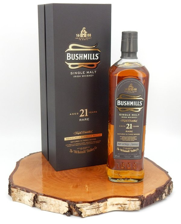 Bushmills  21 Rare - Matured in Three Woods Madeira Finish 40% (Irland/2014)