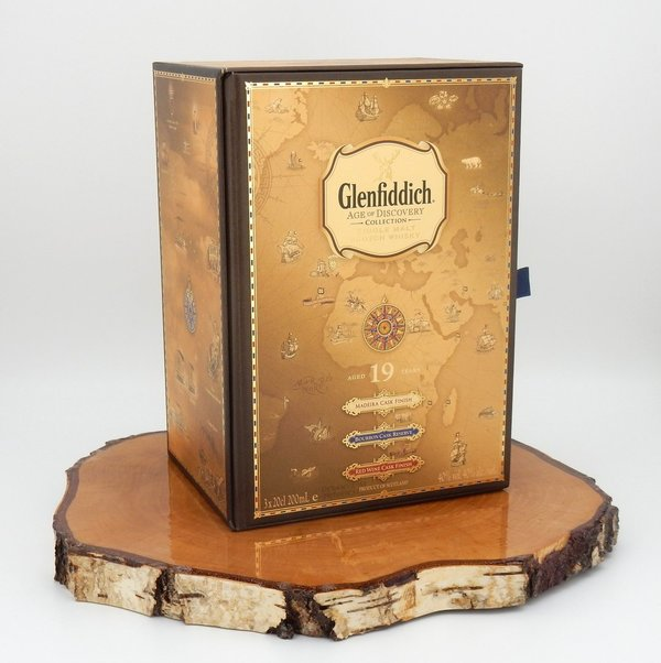 Glenfiddich 19 Jahre Age of Discovery - Madeira, Bourbon, Red Wine Set 40% (CORONA Support Aktion)
