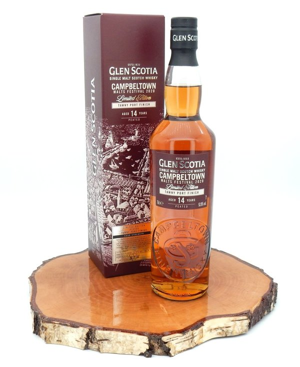 Glen Scotia 2006/ 2020 Vintage, Campbeltown Malts Festival - Peated Tawny Port Finish 52,8%