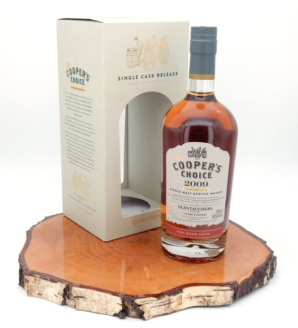 Glentauchers 2009/2019 Port Wood Finish Cask #7839 56,5% (Coopers Choice)