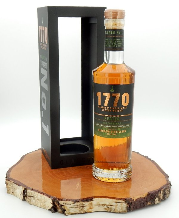 1770 Glasgow Peated - Release No. 1 46% (andere Ausstattung/0,5L)