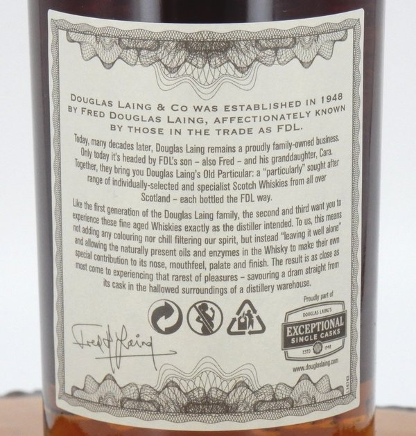 Inchgower 22 Jahre 1996/2018 Sherry Butt Old Particular 51,5% Vol. (Douglas Laing)