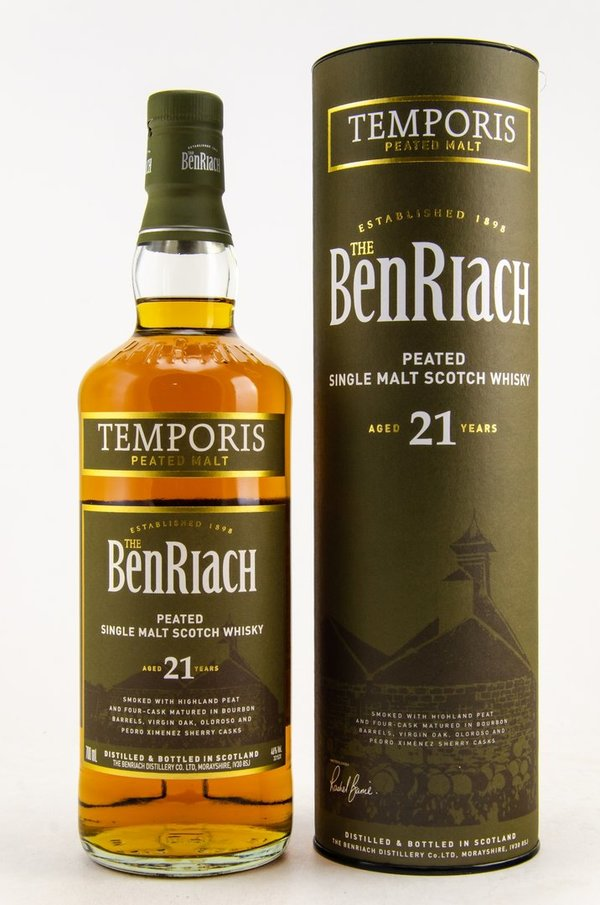 Benriach 21 Jahre Temporis Peated 46%