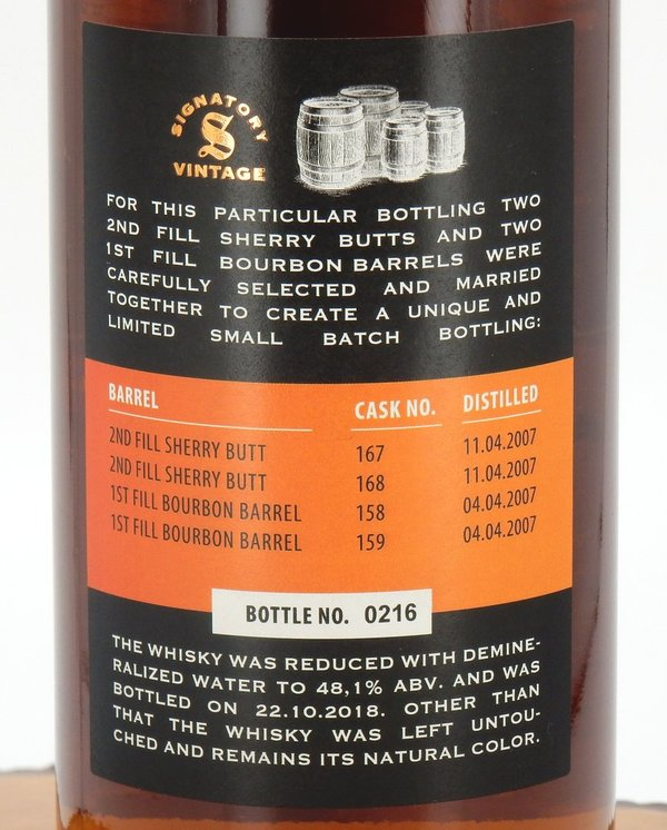 Ballechin 11 Jahre 2007/2018 Small Batch Edition #2 48,1% (Signatory Vintage)