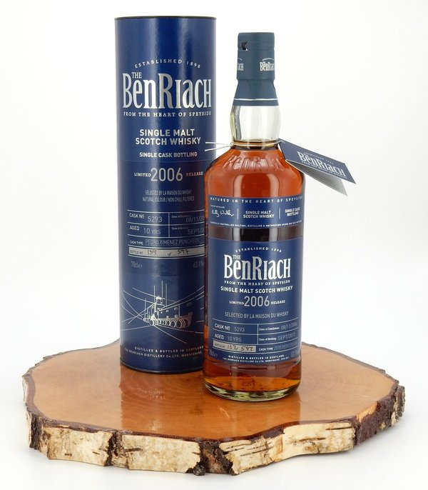 Benriach 10 Jahre 2006/2017 PX Sherry Single Cask #5293 63,1%
