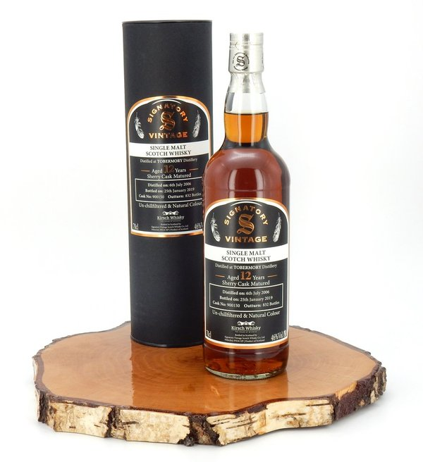 Tobermory 2006/2019 12 Jahre  un-Chill Sherry Cask #900150 Kirsch Exclusiv 46% (Signatory Vintage)
