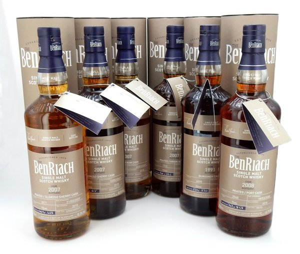 BenRiach Single Cask Batch 15 - Komplett Set 6x0,7l (2018) - TOP Angebot